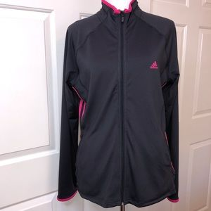 adidas Jackets & Coats - Adidas Black With Fuchsia Size Large